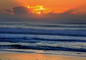 Indian ocean sunrise